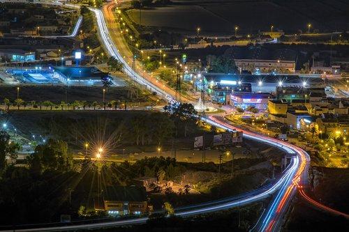 lights  road  night