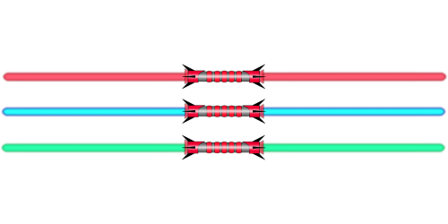 lightsaber double red