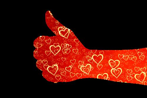 like thumb heart