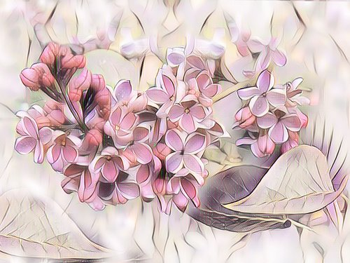 lilac  digital painting  pastel