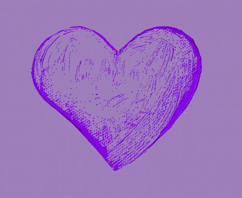 Lilac Heart Cutout