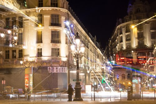 lille  night-time photography  city