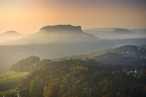 lily stone fog elbe sandstone mountains