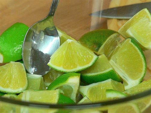 lime lime slices food