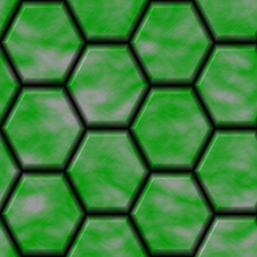 Lime Hex Stones