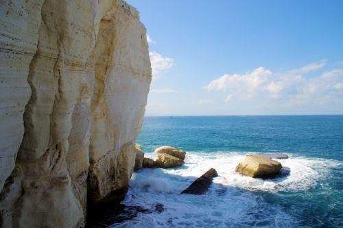 Limestone Cliffs Of Rosh Hanikra