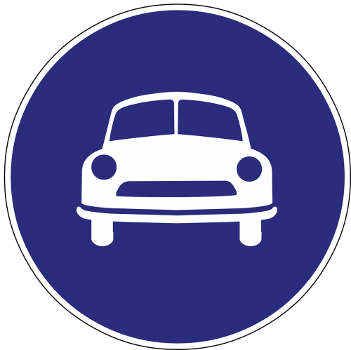 limited access road sign traffic