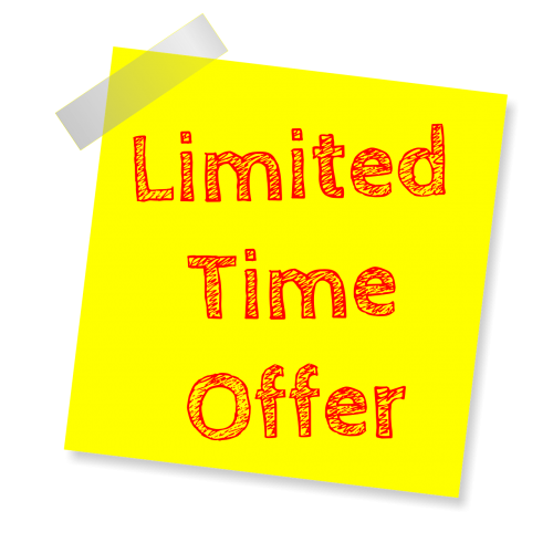 limited time offer deal of the day deal