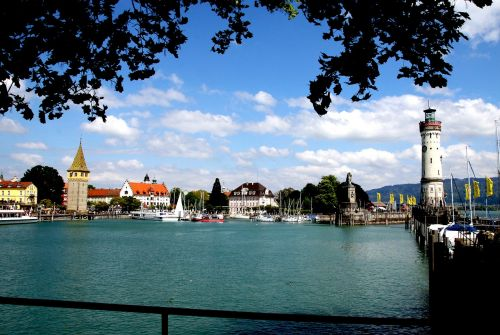 lindau port lake constance