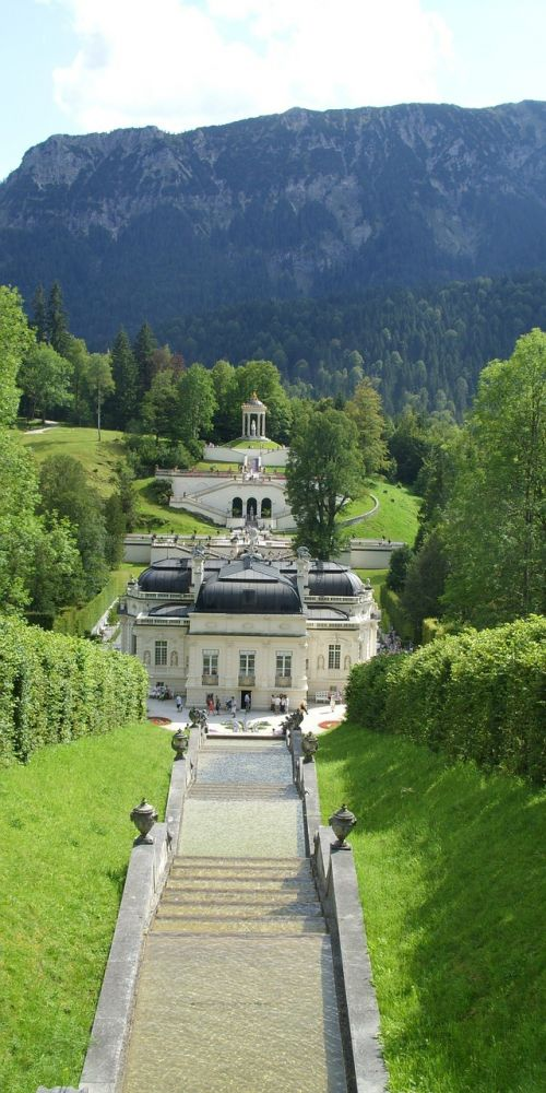 linderhof palace artificial brook louis the second