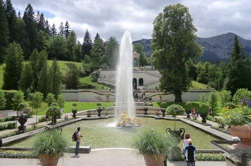 linderhof palace  graswangtal  ettal
