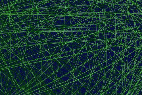 line geometric blue