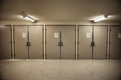 Line Of Metal Doors