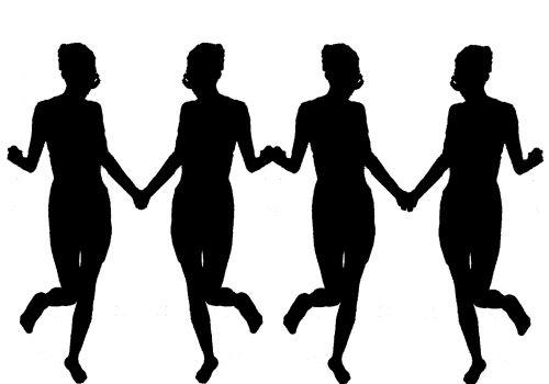 Line Of Women In Black
