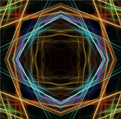 Lines Colorful Abstract Background