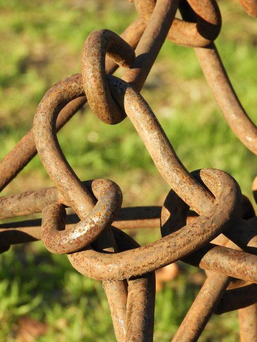 links chain rusty