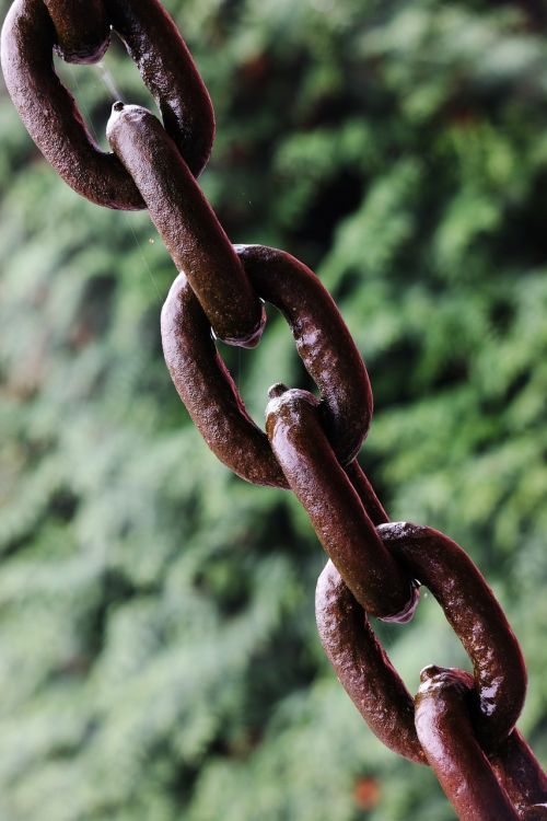 links of the chain chain iron