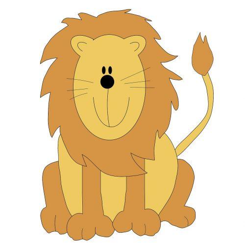 lion clip-art cartoon