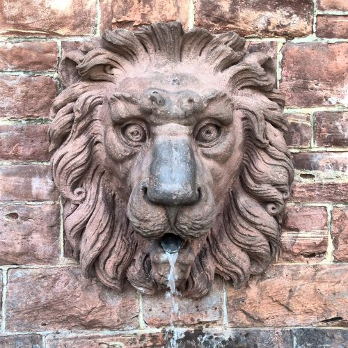 lion fountain water