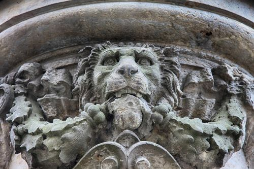 lion sculpture stone figure