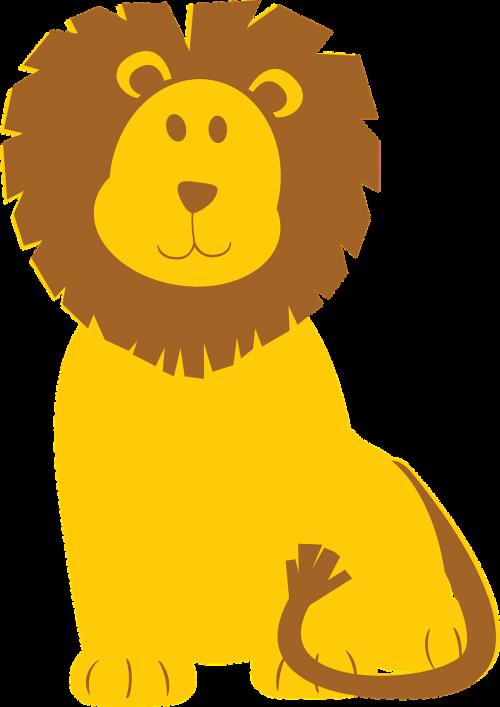 lion brown yellow