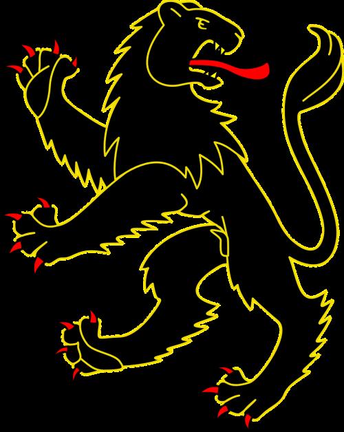 lion black gold