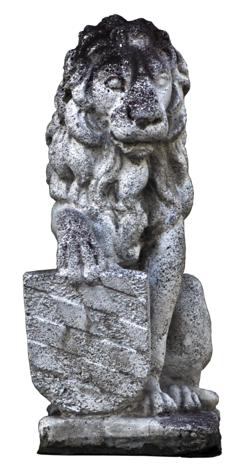 lion stone figure heraldic animal