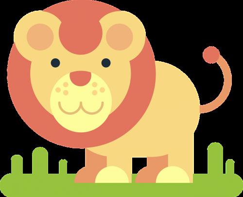 lion animal comic drawing