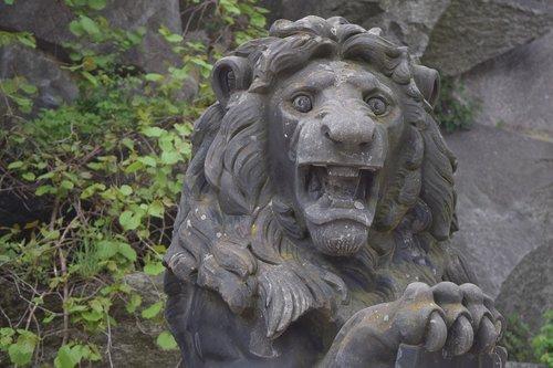 lion  figure  stone figure
