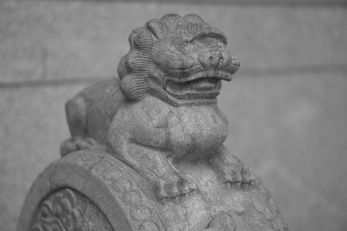 lion  stone lion  chinese style
