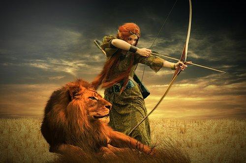 lion  warrior  woman
