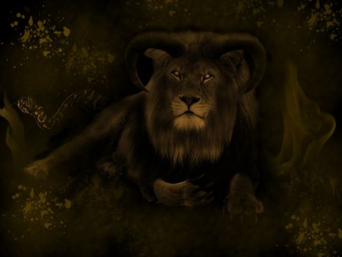 lion art digital