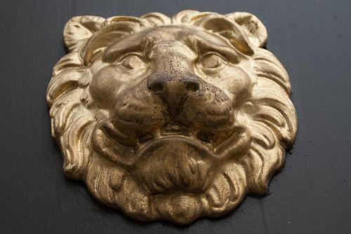 lion ornament door