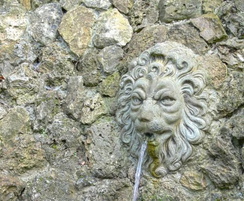 lion head fountain source