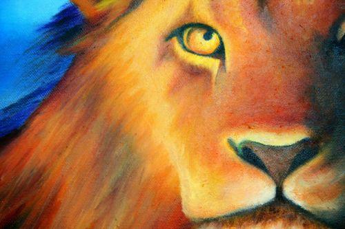Lion In Oils
