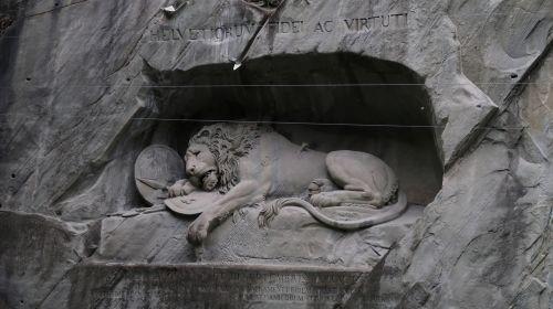 lion monument luzern swiss