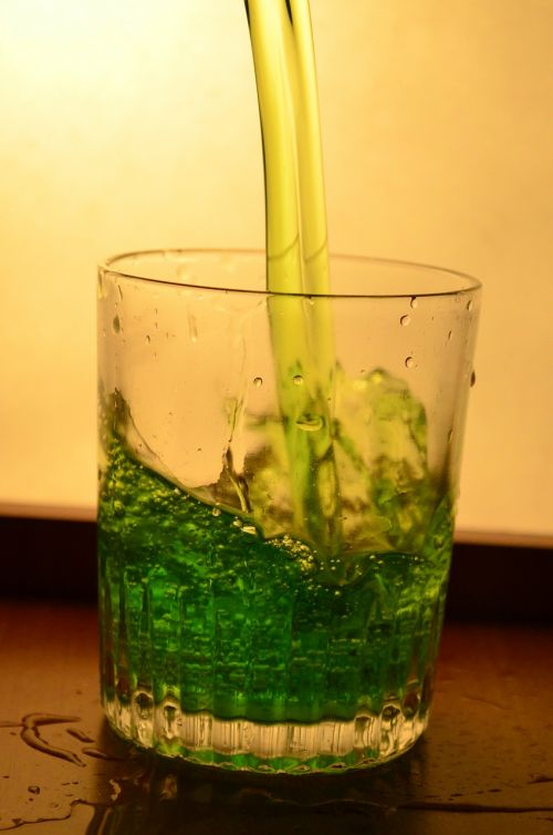 liquid green glass