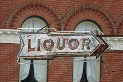 liquor sign alcohol