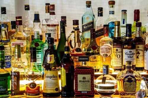 liquor bottles alcohol