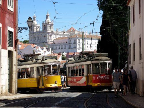 lisbon old town tram