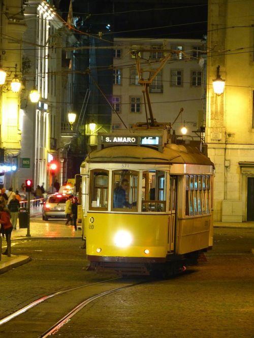 lisbon tram drive