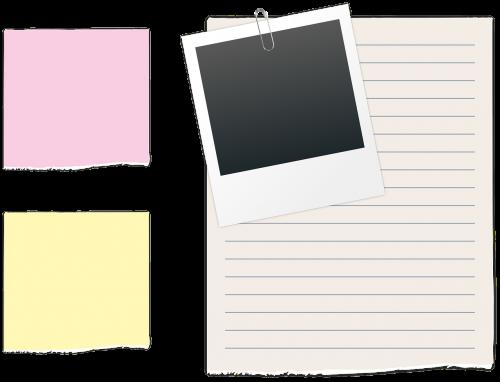 list polaroid paperclip