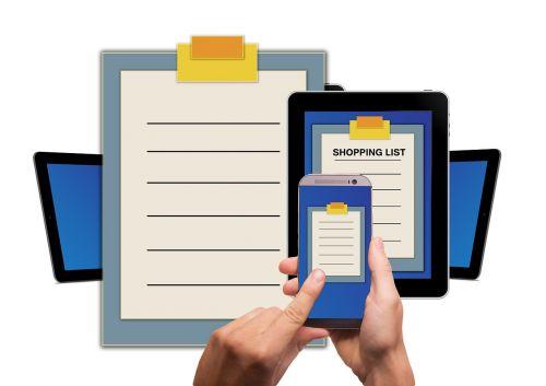 list shopping list tablet