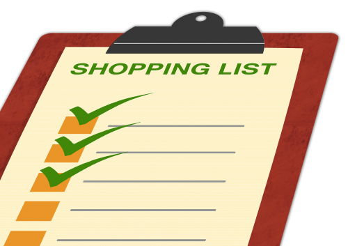 list shopping list board