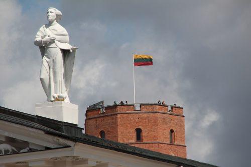 lithuania vilnius flag