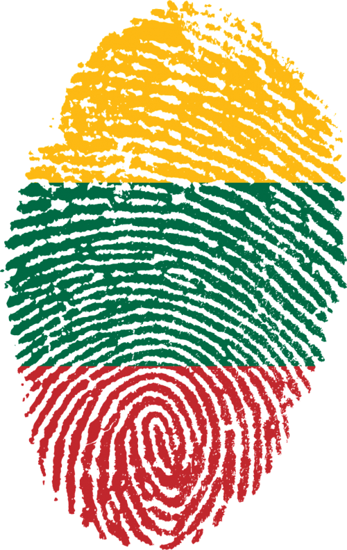 lithuania flag fingerprint