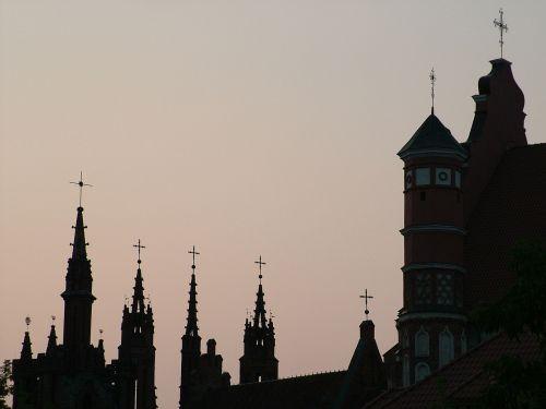 lithuania vilnius gothic quarter
