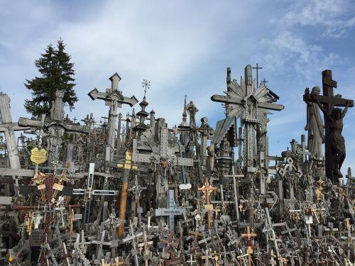 lithuiania hill of crosses cross
