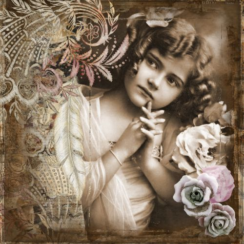 little girl vintage