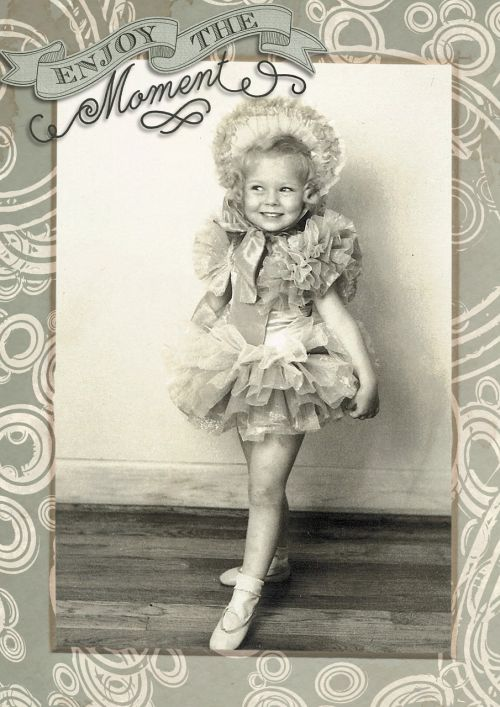 little vintage girl
